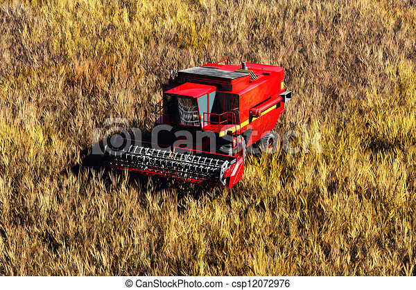 Agriculture Harvester Concept 3D re - csp12072976
