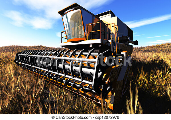 Agriculture Harvester Concept 3D re - csp12072978