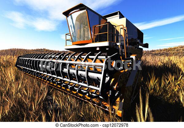 Agriculture Harvester Concept 3D re - csp12072978