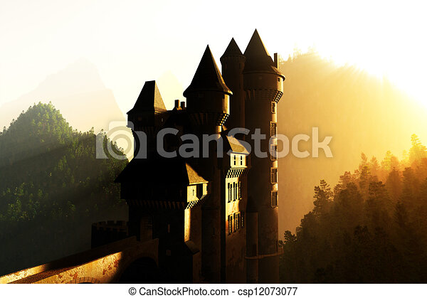 Castle in the Mountains - csp12073077