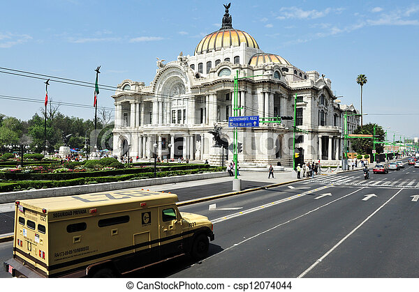The Fine Arts Palace in Mexico City - csp12074044