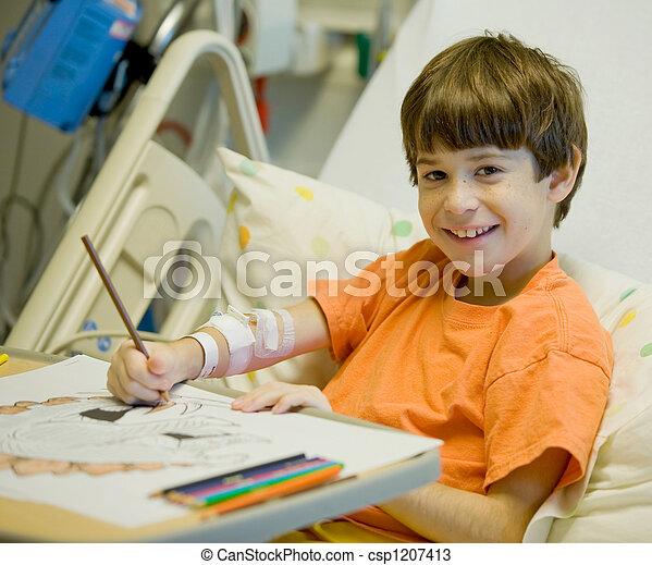 Little Boy in Hospital - csp1207413
