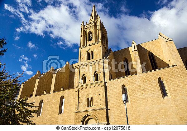 Church in Salon-de-Provence on sunset. - csp12075818