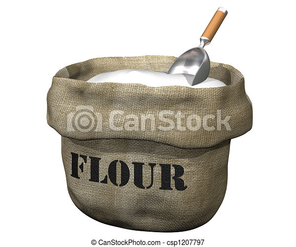 Sack of flour - csp1207797