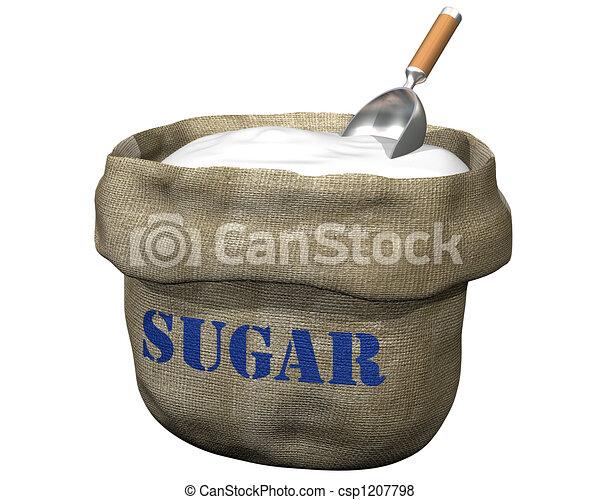 saco, azúcar - csp1207798