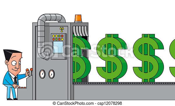 Making Money Icons Money Making Machine