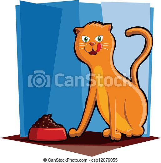 Cat Eating Food - csp12079055