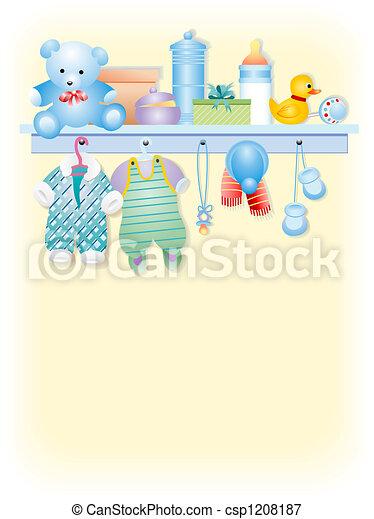 Baby boy garment - csp1208187