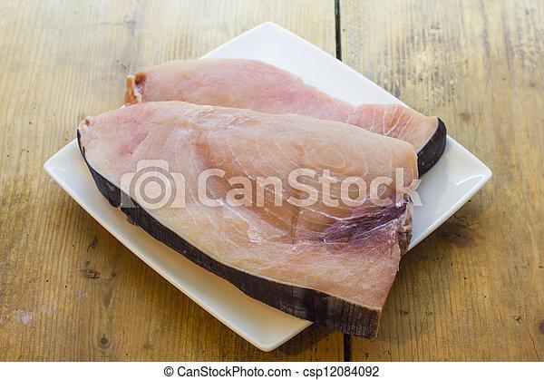 Slice of swordfish - csp12084092