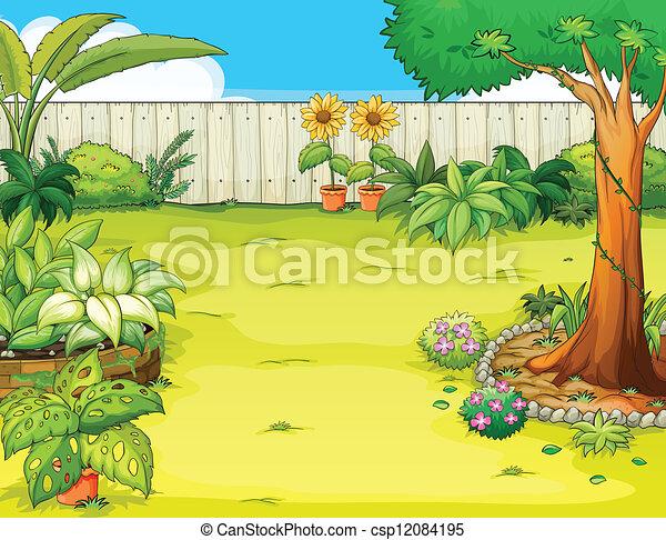 Garden Clipart and Stock Illustrations 258837 Garden vector EPS