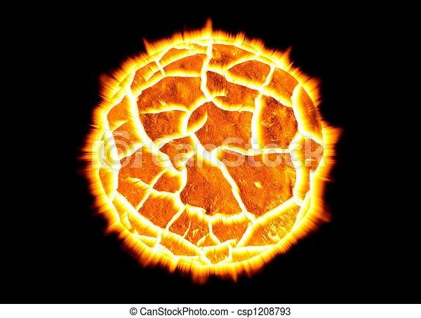 Exploding Planet - csp1208793
