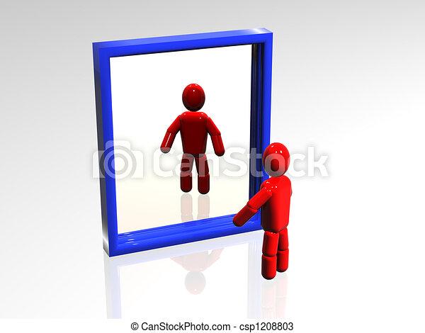 Dessins de miroir 3d personne qui regarde les for Regarde toi dans un miroir