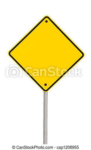 Blank Road Sign (with Pat - csp1208955