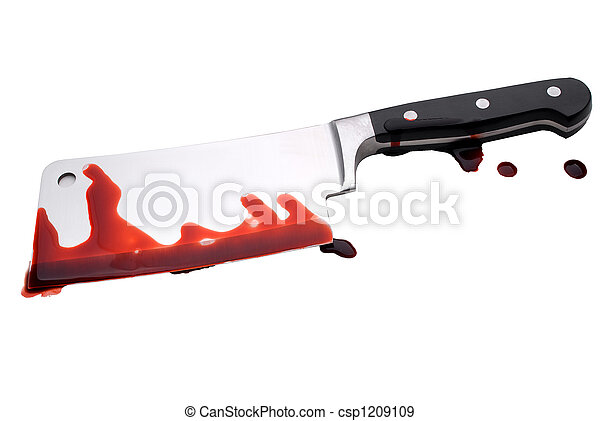 Bloody Butchers Knife - csp1209109