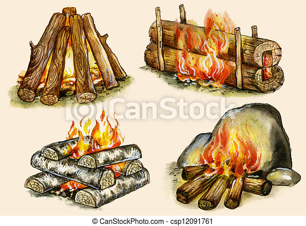 Campfires set  - csp12091761