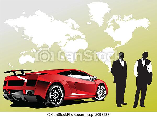 Automobile show with concept-car a - csp12093837