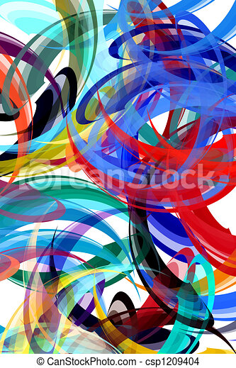 Abstract painting styled background - csp1209404