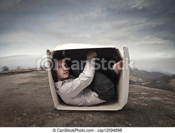 man in a box - csp12094898