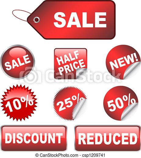 Sale labels - csp1209741