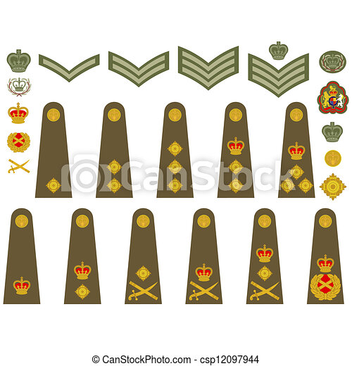 eps vector of british army insignia epaulets  military british flag vector free download british flag vector art