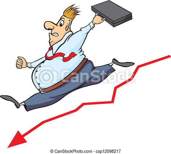 Vector Clip Art of buisnessman and decline in the stoc ...