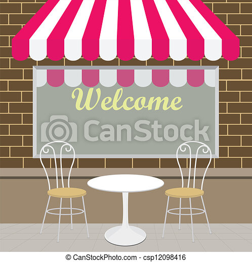 Vector Clip Art Of Outside View Of The Coffee Shop
