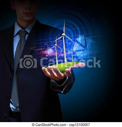 clean energy. windmills - csp12100057