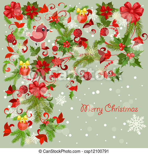 Design a Christmas greeting card - csp12100791