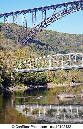 Bridges on New River in West Virginia - csp12102432