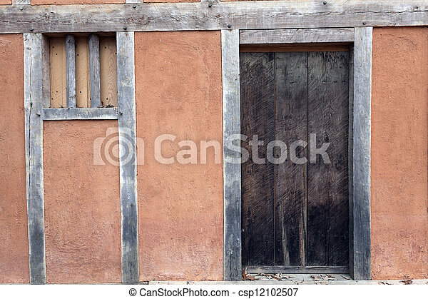 Jamestown - historic house  - csp12102507