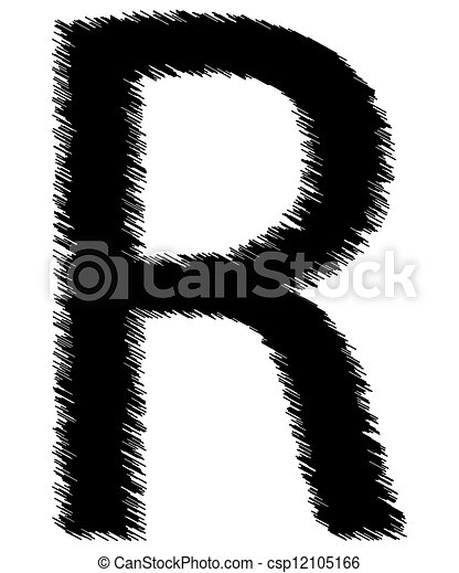 Stock Illustration Of Scribble Alphabet Letter - R ...