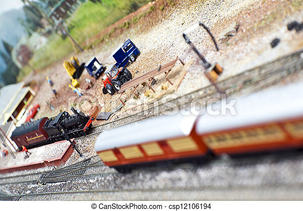 Model Trains - csp12106194