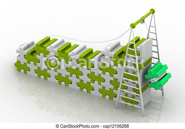 3d illustration of Teamwork  - csp12106268