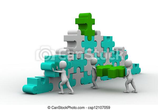 Stock Illustration - business team work building - stock illustration ...