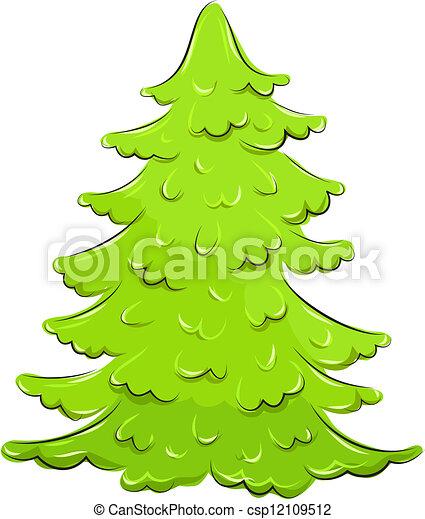Clip art vecteur de luxuriant vecteur sapin illustration vector csp12109512 - Dessin sapin vert ...