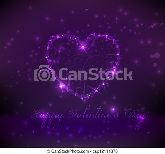 Abstract valentine's day background - csp12111378