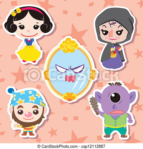 Cartoon story people icons - csp12112887