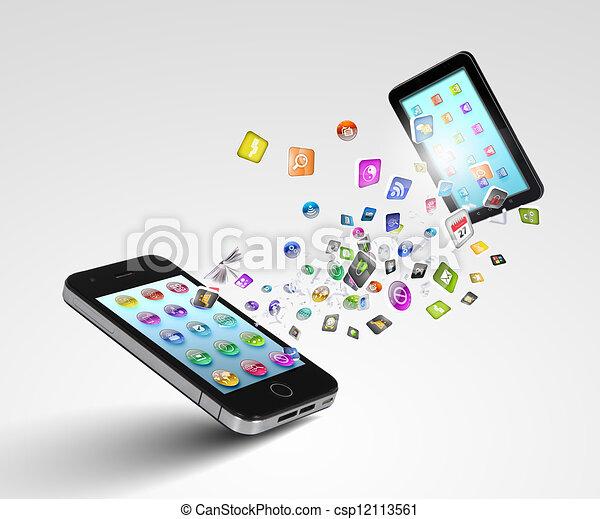 Modern communication technology - csp12113561