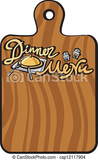 vector clipart of dinner menu csp12117904 search clip