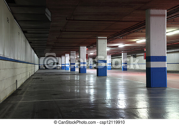 Underground garage in a residential building - csp12119910