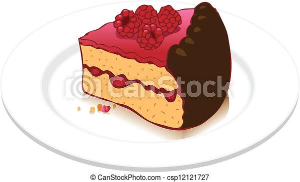 Vektor Illustration von himbeer, kuchen - Seamless ... - photo #30