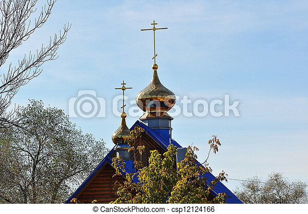 The dome of the Orthodox Church on the border between Europe and Asia - csp12124166