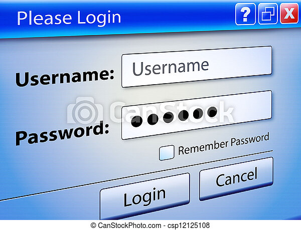 Computer Web Signin User Security - csp12125108