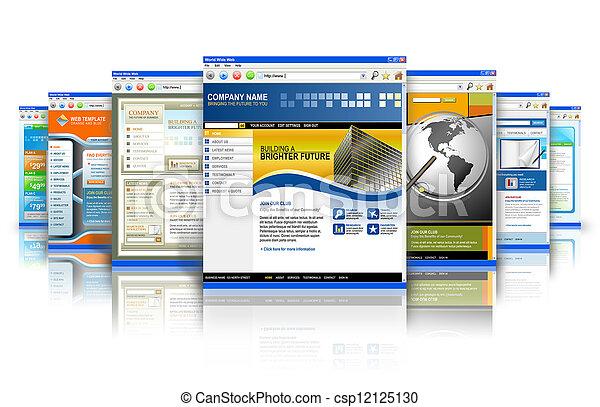 Technology Internet Websites Reflection - csp12125130