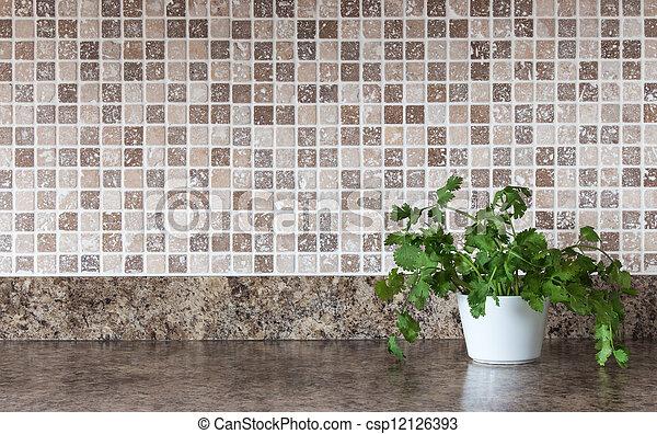 Stock Fotografieken van keukenkruiden, keuken, groene, Countertop ...