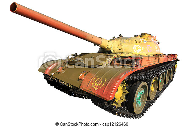 Military Tank Isolated - csp12126460