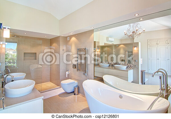 stock fotografie von sch ne dekorativ badezimmer in. Black Bedroom Furniture Sets. Home Design Ideas