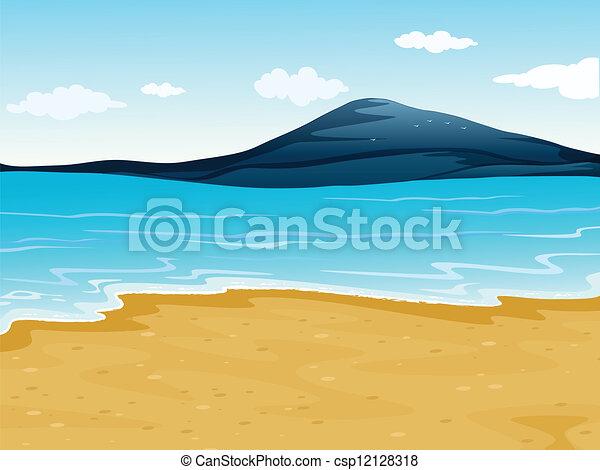 a Sea Shore Illustration of