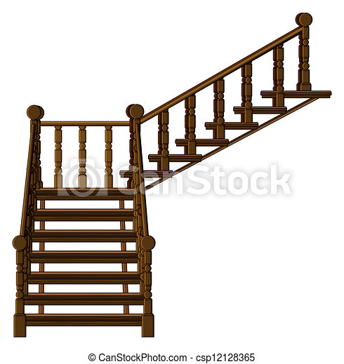 Clip Art Vector Of A Staircase Illustration Of A