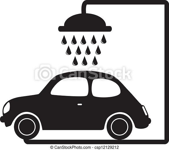 Vector Clip Art of car wash vector illustration csp12129212 ...